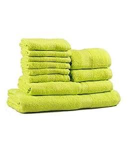 Trident Neon Green 10 Pcs Towel Set