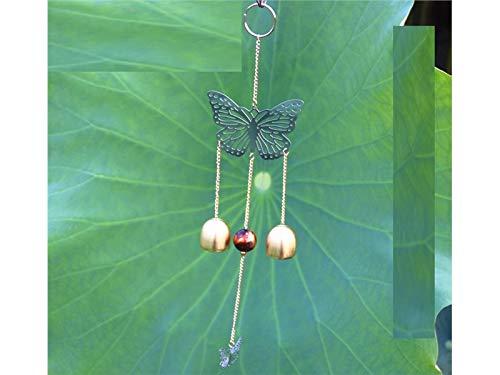 GYPO Cacciatore di Sogni Campanelli a Vento viventi all'aperto del Giardino dell'iarda di Forma della Farfalla del Metallo delle Campane della Campana Decorazione Suncatcher