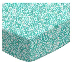 Price comparison product image SheetWorld Fitted Pack N Play Sheet Fits Graco Square Playard 36 x 36 - Confetti Dots Aqua - Made In USA