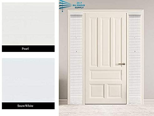 Amazon Com 24 7 Blinds Suppy Custom Made 2 Faux Wood Sidelight Blinds For Doors Single Blind Outside Mount Pearl Home Kitchen