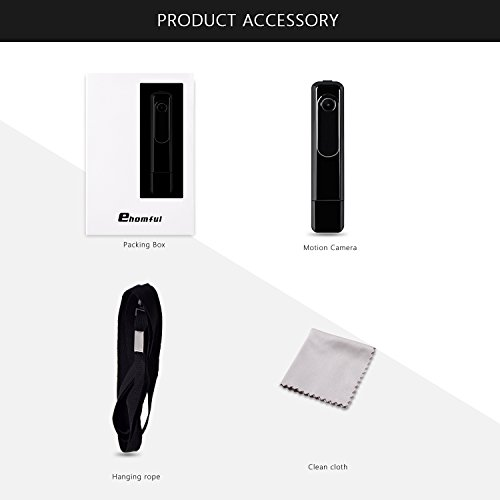 Ehomful Mini Body Camera HD 1080P Hidden Spy Camera Wearable Video Recorder Loop Recording Portable Clip Body Worn Cam with USB Flash Drive/One Key Fast Record/No Flash for Outside Home/Office