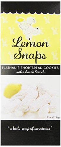 Flathau's Fine Foods Lemon Snaps, 8-Ounce Boxes (Pack of ()