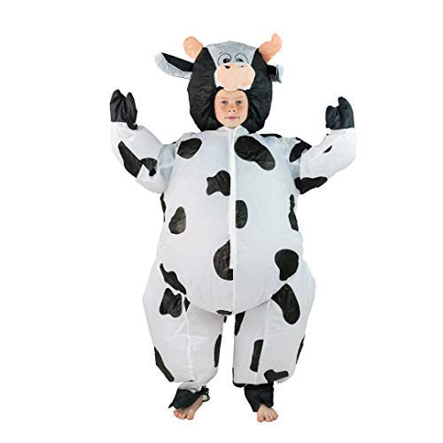 Bodysocks Kids Inflatable Cow Fancy Dress Costume Cow Farm Animal Costume