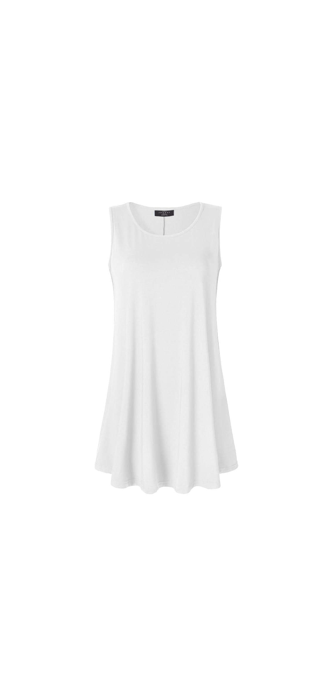 Women Solid Short Sleeve/sleeveless Tunic For Tank