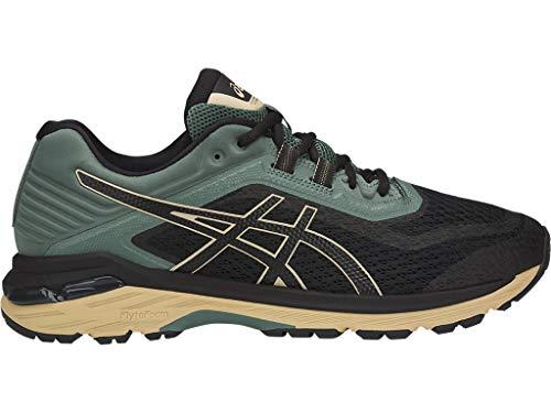 ASICS Men's GT-2000 6 Trail Running Shoes, 9M, Black/Black/Dark Forest