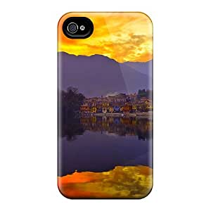 Premium Protection Sunset Reflection Cases Covers For Iphone 6- Retail Packaging