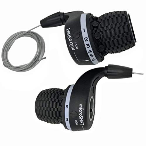 - Microshift MTB Bike Bicycle Twist Grip Gear MS25-6 Shifters 3X6 Speed DIP Compatible for Shimano