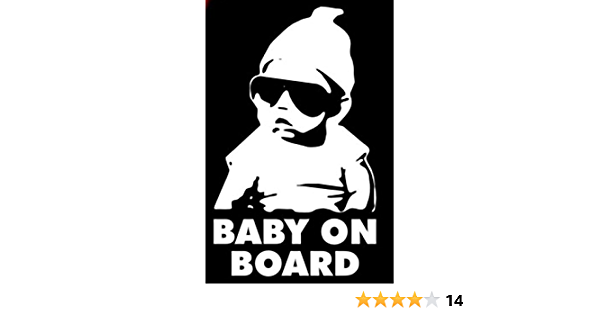 0091 BABY ON BOARD decal sticker Hangover Baby FREE SHIPPING