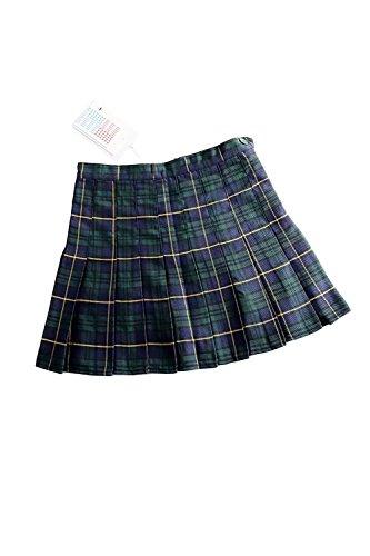 Haute De Mini Femmes Carreaux Taille Green L'cole Les Jupe Uniformes Plisse De pqTBpFf