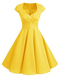 Bbonlinedress 1950s Summer Vintage Sweetheart Classy Rockabilly Cocktail Swing Dress