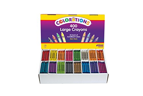 Colorations Large Crayons - 16 Colors, Set of 400 (Item # CLBIG16)