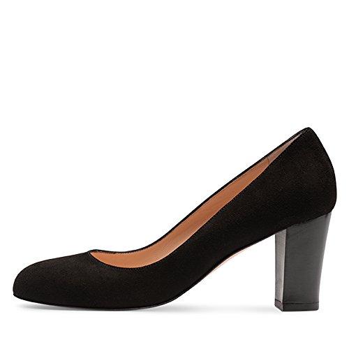 Nero nero Scarpe Shoes Evita Tacco col Pump Chiusa Donna Punta AzPHwxTHq8