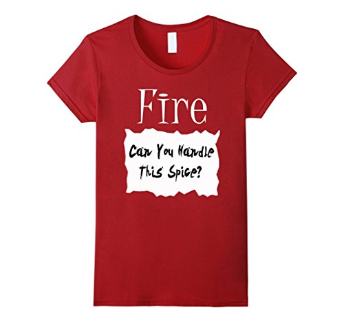 Simple To Make Costumes For Halloween (Womens Fire Hot Sauce Packet Halloween Costume Taco T-shirt Small Cranberry)