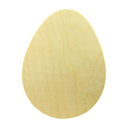 Wooden Easter Eggs Cutouts 7 x 5.5 x 1/8 Inch, Bag of 5 Unfinished Wooden Egg Shape Cutouts, Birch Wood, Kids Easter DIY Project, Paint and Decorate in Your Own Colors. by Woodpeckers