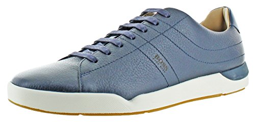 Hugo Boss Stillnes Men's Leather Sneakers Shoes Blue Size 10