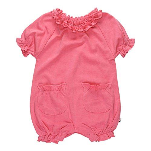 Babysoy Princess Bubble Romper (6-12 Months, Pink Lemon) (Pink Bubble Romper)