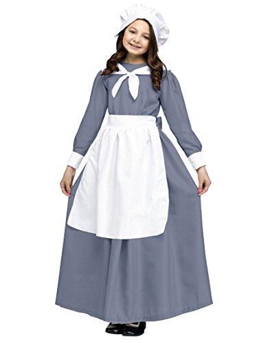 Fun World Pilgrim Girl Costume, Medium 8-10,