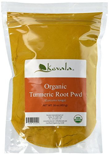- Kevala Organic Turmeric Powder, Curcumin, Premium Quality, 1lb