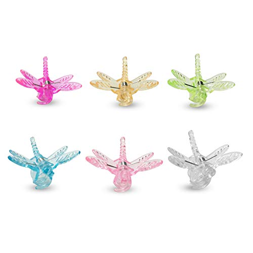 Medium Orchid Clip - KINGLAKE 30 Pcs Dragonfly Orchid Clips,Garden Plant Support Clips, Cute Flower Vine Clips