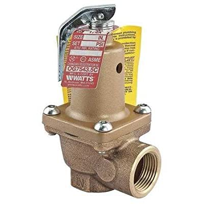 Safety Relief Valve, 3/4 In, 50 psi, Bronze by WATTS