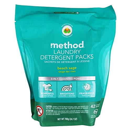 Method Laundry Detergent Packs Beach Sage 42 Loads 24 7 oz 700 g