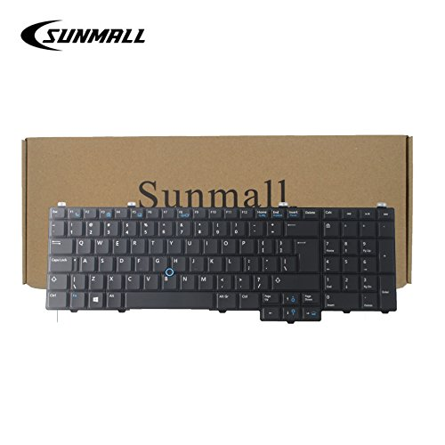 SUNMALL Keyboard Replacement with Pointer and Backlight for Latitude 15 5000 E5540 Series Laptop Black US Layout(6 Months Warranty)