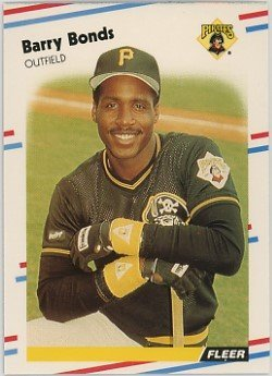 1988 Fleer Baseball Card #322 Barry Bonds ()