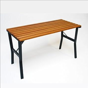 Amazon De Dema Gartentisch Modern 110 Cm Holz Metall