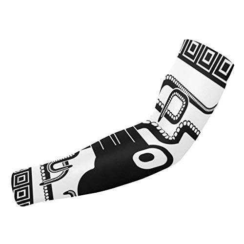 DAZHUZHU Stylized Silhouette of an Octopus Expertized Custom Personality Sleeve£¬UV Protection Cooling Arm Sleeves - Compression Arm Sleeves£¬ Baseball Basketball Football Boys Girls Kids Men & Women