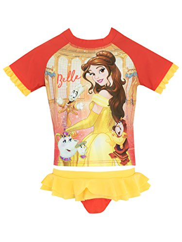 Disney Girls' Beauty and The Beast Two Piece Swim Set Size 3T