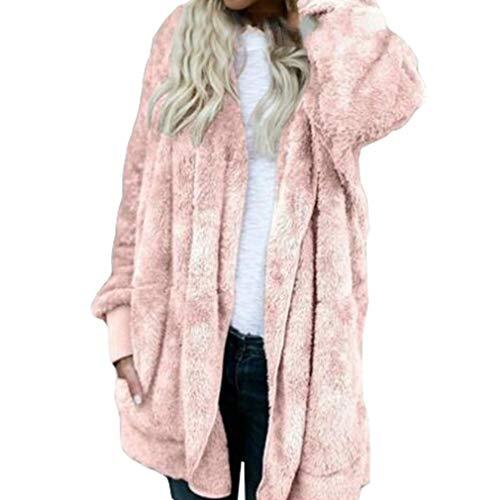 Peluche Synthétique Mode Tricot Vêtements Manches Fourrure Rose Brodé À Longues Ouverture Juleya Femme Manteau Capuche 4qFZwCEUF