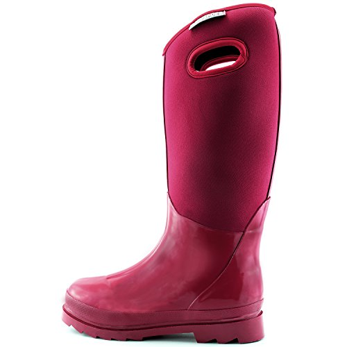 Classic Neoprene Mid Waterproof Calf Warm Winter High Soft Pink Women's Boots Snow Rainboot Rubber Ultra dIC1pqnw