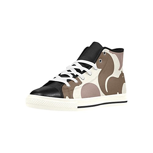 InterestPrint Brown Squirrel Pattern Aquila High Top Action Leather Women Sneakers Lace Up Fashion Walking Shoes CE7Wrne