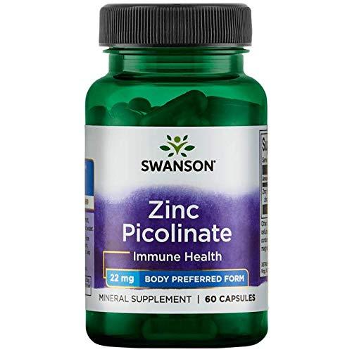 Swanson Zinc Picolinate Body Preferred Form 22 Milligrams 60 Capsules