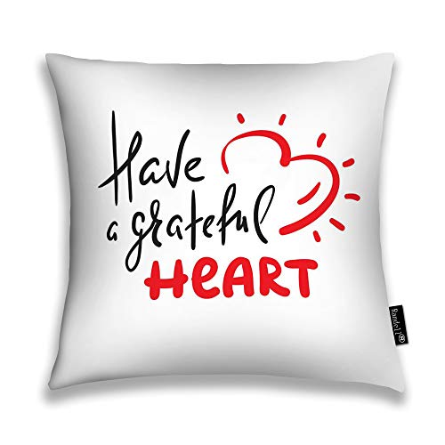 Randell Throw Pillow Covers Have Grateful Heart Home Decorative Throw Pillowcases Couch Cases 18