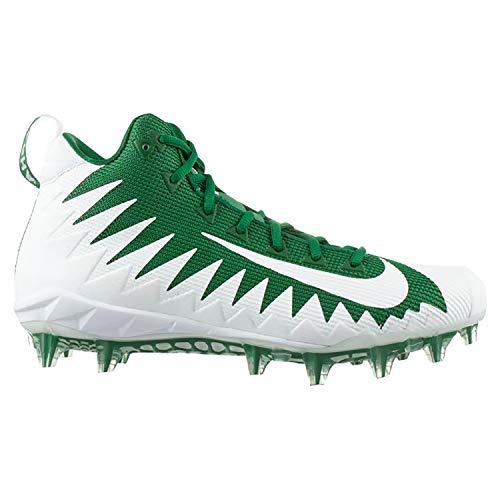 Nike Men's Alpha Menace Pro Mid Football Cleats (10 M US, Pine Green/White-White) ()