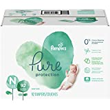 Diapers Size N, 92 Count - Pampers Pure Protection Disposable Baby Diapers, Hypoallergenic and Fragrance Free Protection, Giant