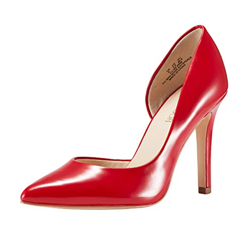 JENN ARDOR Stiletto High Heel Shoes for Women: Pointed, Closed Toe Classic Slip On Dress Pumps (6 B(M) US, Mirror RED) ()