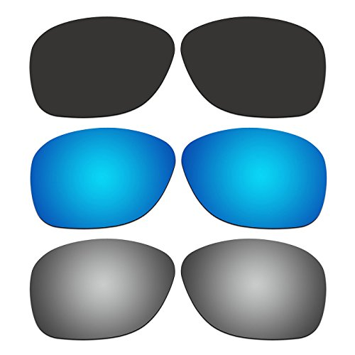 3 Pair ACOMPATIBLE Replacement Polarized Lenses for Oakley She's Unstoppable Sunglasses OO9297 Pack - Replacement Lenses Oakley Unstoppable