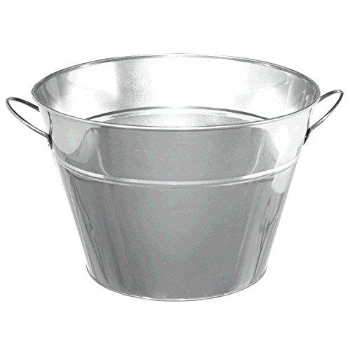 Silver Metal Party Tub