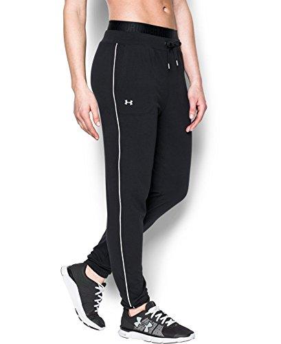 Under Armour Women's Favorite Slim Leg Jogger Pant, Black/White, X-Small