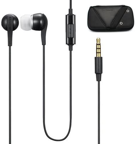 Samsung OEM Stereo In Ear Style Wired with Microphone Headset Carrying Case for Samsung Galaxy S6 Edge Plus, S6 Edge, S6, S5, S4, S3, S2, Galaxy Note Edge, Note 5 4 3 2 – Galaxy Tab, TabPRO and NOTEPRO Tablets All Smartphones and Tablets