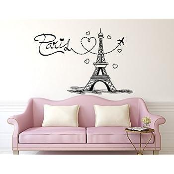 Amazoncom Eiffel Tower Wall Decal Paris Silhouette Vinyl - Wall decals eiffel tower