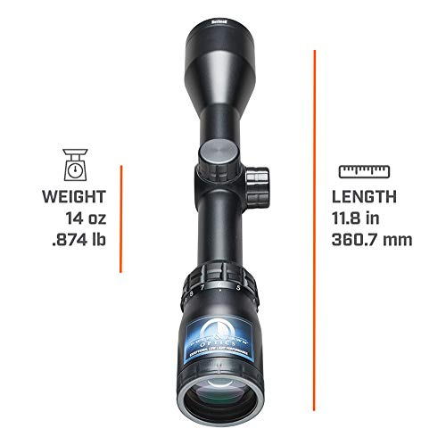 Bushnell Banner Dusk & Dawn Multi-X Reticle Riflescope with 3.3-Inch Eye Relief, 3-9X 40mm