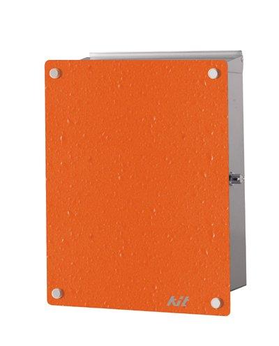 壁付けポスト KIT【キット】(オレンジ)【左開き右ロック】   B009GCY6IK