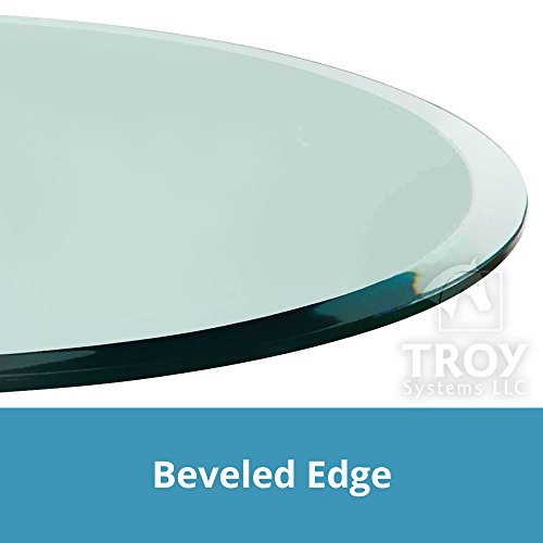20'' Inch Round Glass Table Top, 1/2 Thick, Beveled Edge, Tempered Glass by TroySys (Image #4)