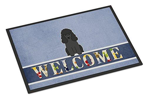 Caroline's Treasures BB5652MAT Poodle Black Welcome Doormat, 18 x 27, Multicolor (Door Poodle Mat)