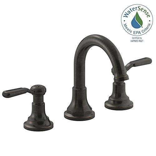 KOHLER Oil-Rubbed Bronze Worth 8 Inch 2-Handle Widespread Ba