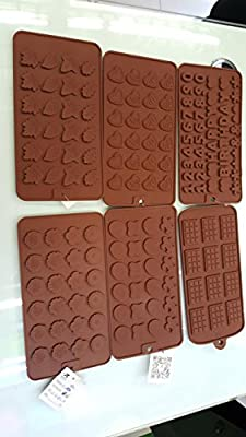 10 Pack Silicone Chocolate Molds- all different molds for candy making! 100% food safe silicone!