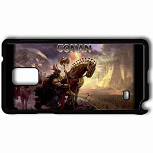 Personalized Samsung Note 4 Cell phone Case/Cover Skin Age Of Conan Black